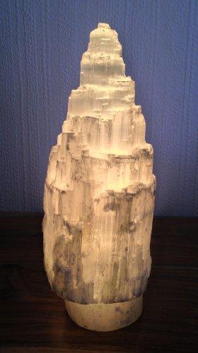 Selenite Natural Tower / Iceberg Table Lamp - H30 Cm